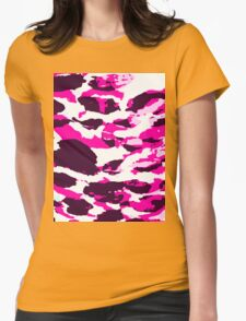 Abstract Army Pattern in Pink Womens Fitted T-Shirt