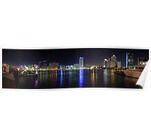 Dubai Creek Night Panorama Poster