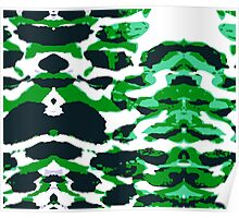 Abstract Army Pattern in Poster