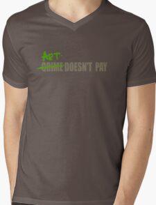 Art Doesn't Pay Mens V-Neck T-Shirt