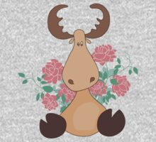 Deer with flowers One Piece - Long Sleeve
