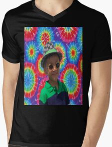 Peace Ayeeden Tie Dye Mens V-Neck T-Shirt