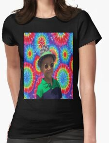 Peace Ayeeden Tie Dye Womens Fitted T-Shirt