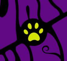 Purple Puss Sticker