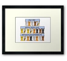 Cats celebrating birthdays on November 30th. Framed Print