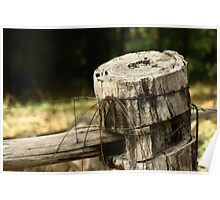 Farm Fence Post - Healesville Poster