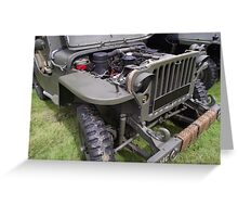 Military Vehicle Jeep    Greeting Card