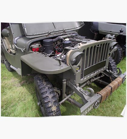 Military Vehicle Jeep    Poster