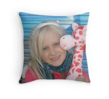 Livvy comes to Melbourne ...  Throw Pillow