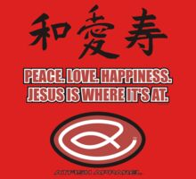Peace,Love,Happiness T-Shirt