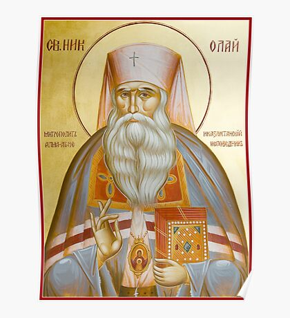 St Nicholas the Confessor of Alma Ata and Kazakhstan Poster