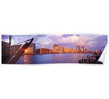 Dubai Creek Sunset Poster