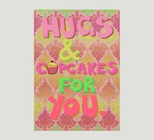 Hugs and Cupcakes For You Womens Fitted T-Shirt