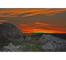 Wiradjuri Country Sunset HDR Photographic Print