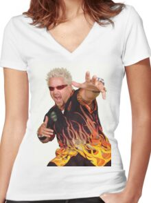 Guy Fieri Women's Fitted V-Neck T-Shirt