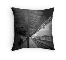 Even waiting for the train, I am thinking of you. Throw Pillow