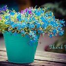 Flower Bucket - Thank You by Karen Duffy
