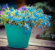 Flower Bucket - Thank You by Karen Duffy