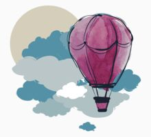 Hot Air Balloon and Clouds Kids Clothes