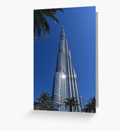 Burj Khalifa Dubai Mall, Dubai Greeting Card