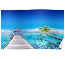 Relax at the Beach in Polynesia Poster
