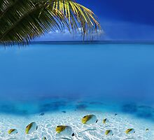 Post Card from Tahiti by Digital Editor .