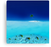 Post Card from Mauritius Canvas Print