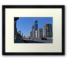 Dubai, Sheikh Zayed Road Framed Print