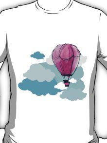 Hot Air Balloon and Clouds T-Shirt