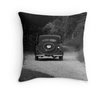 Drive to the past Throw Pillow