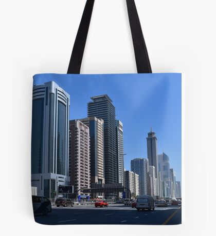 Dubai, Sheikh Zayed Road Tote Bag