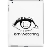 I am watching - BLACK -  POI iPad Case/Skin