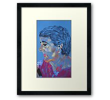 woman with necklace. Framed Print