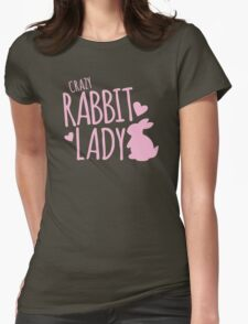 Crazy Rabbit (bunny) lady in pink T-Shirt