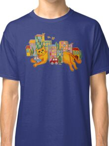Catzilla Takes a Break Classic T-Shirt