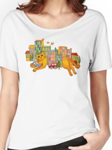 Catzilla Takes a Break Women's Relaxed Fit T-Shirt