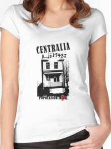 Centralia, PA - Population 7 Women's Fitted Scoop T-Shirt