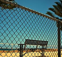 Fence, Bench and Sea by Richard Owen