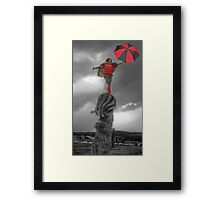 The Storm is looming Framed Print