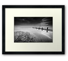 All Night Vigil BW Framed Print