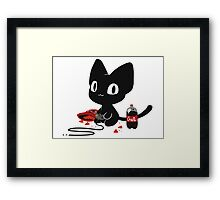 Gamer Kitty Framed Print
