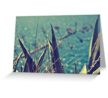 A languid atmosphere, a lazy breeze, With labored respiration, moves the wheat Greeting Card