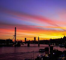 London at Sunset 2 by bywhacky