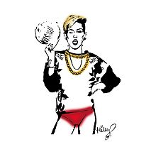 Miley Red Panties Photographic Print