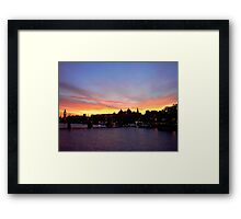 London at Sunset 3 Framed Print