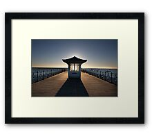 Halo - View of Swanage Pier Dorset Framed Print