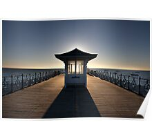 Halo - View of Swanage Pier Dorset Poster