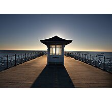 Halo - View of Swanage Pier Dorset Photographic Print