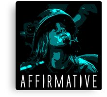 Affirmative Canvas Print