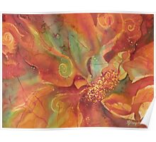 Flaming Flower 1 Poster